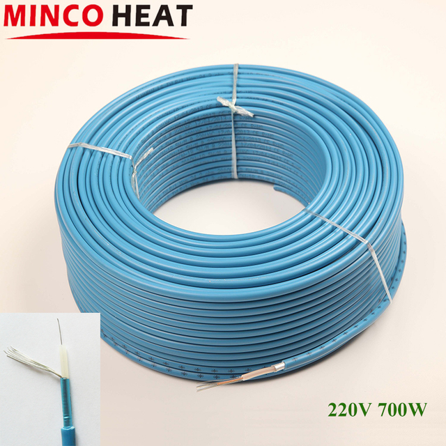 700W 18.5w/m blue heating cable radiant floor electric heating air ...