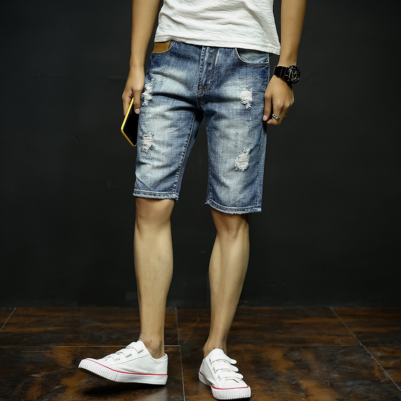 Ripped Jeans Men Short Promotion-Shop for Promotional Ripped Jeans ...
