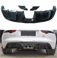JIOYNG fibra de carbono coche parachoques trasero alerón labio, coche parachoques trasero difusor 3 unids/set para Jaguar F-TYPE 2014, 2015, 2016, 2017, 2018