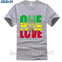 Bob Marley One Love Jamaica Reggae Hip Hop Rap Música Legal Camisa dos homens T Plus Size Euro tshirt Feito Sob Encomenda T Personalizado Camisas