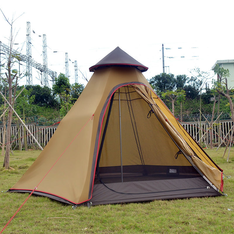 Outdoor Mongolian Yurt Tent Waterproof Double Layer 6 Corner Indian Teepee Tents for C&ing Tent 5 Persons-in Tents from Sports u0026 Entertainment on ...  sc 1 st  AliExpress.com & Outdoor Mongolian Yurt Tent Waterproof Double Layer 6 Corner ...