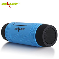 ZEALOT S1 Waterproof Bluetooth Speaker Wireless Portable Outdoor Speaker With LED Flashlight Support TF FM Radio