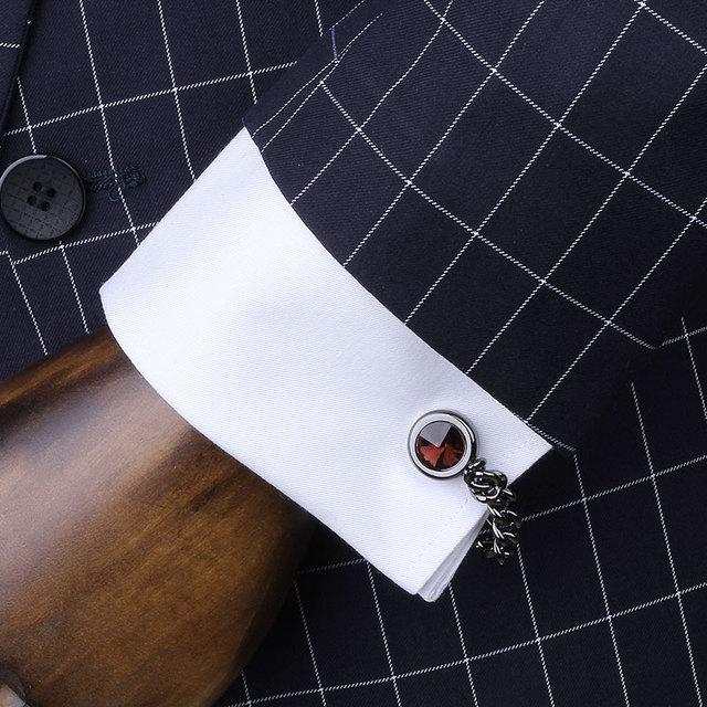 4 Cor Opcional Venda Quente Jóias Cadeia de Ligações de Punho Dos Homens Botão de Camisa dos homens