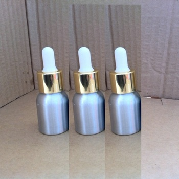 60pcs 20ml aluminum silver bottle With (gold ring +white rubber) dropper lid,20 ml glass essential oil bottle with dropper