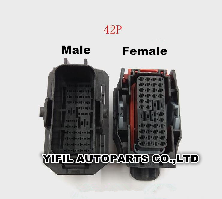 1pcs  Lot 42 Pin  Way Male Or Female Cars Door Harness