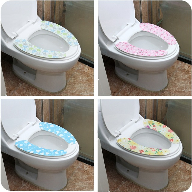 Fl Soft Comfortable Artificial Fiber Washable Bathroom Toilet Seat Cover Mat Lid Closestool Cloth Gute