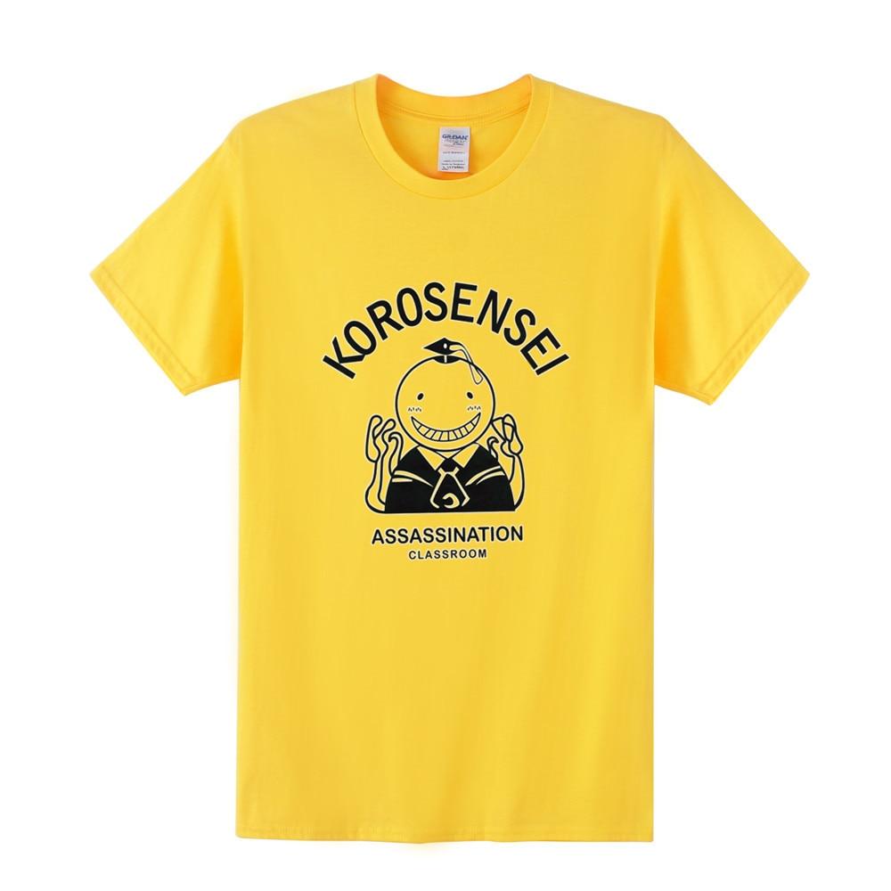 Japanese Anime Series Of Assassination Classroom Summer Loose Man T Shirt Cartoon Character Cotton O-neck Adult Men T-shir TT-22