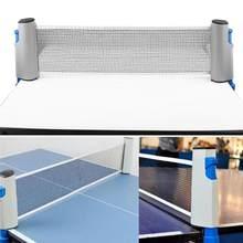 edb5fd5f0 Tênis de Mesa Retrátil portátil Forte Malha Net Telescópica Rack  Substituição para Ping Pong Ténis de Mesa Ping Pong Net Jogando