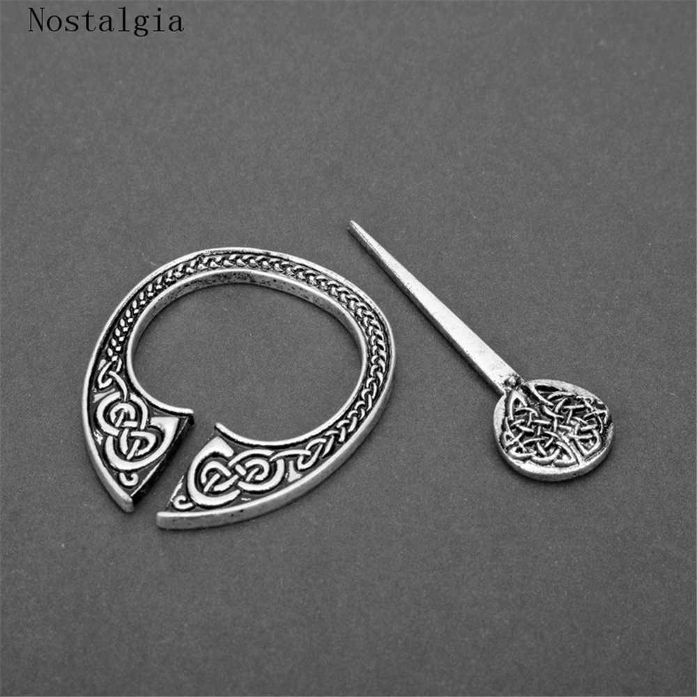Булавка для шали, булавка для шали, в форме Кельта и узелков, в средневековом стиле