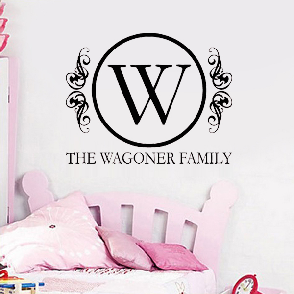 Custom family last name wall art stickers bedroom decoration murals wall say quote word lettering art vinyl decals home decor in wall stickers from home