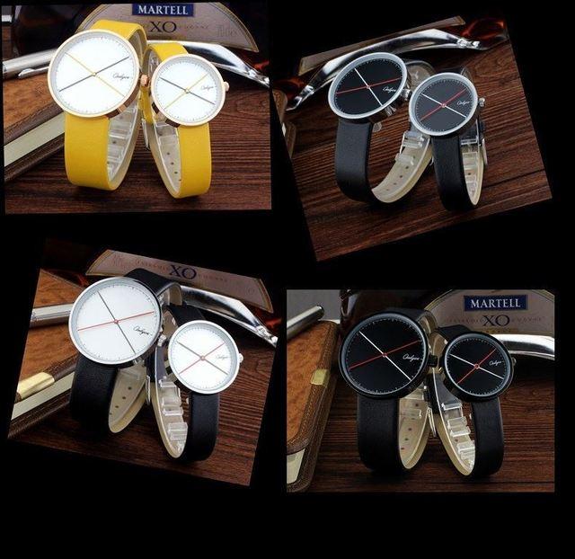 ONLYOU Brand Watches Women Men Fashion Casual Genuine Leather Quartz Wrist Watch For School Boys Girls Black Yellow Color 81012