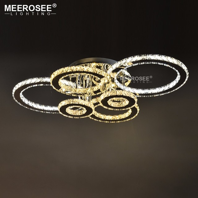 Modern LED Chandeliers Light Stainless steel Crystal Lamp for Living Bedroom Diamond Ring LED Lustres Lamparas de techo Lighting
