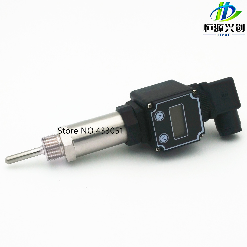 RTD PT100 temperature sensor plug in temperature transmitter bring their own display