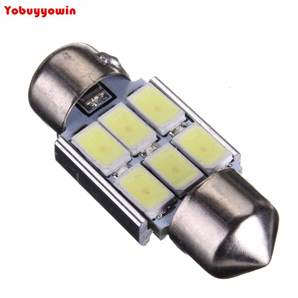 Kit 4 Lampada Torpedo 6 Led Smd 5630 Samsung Chips 3w 31 mm Can Bus ...