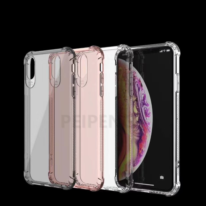PEIPENG  Luxury phone CaseThickened anti-fall For iPhone XS MAX XR X Ultra Thin Transparent Back Case For iPhone 6 6s 7 8Plus Simple 07