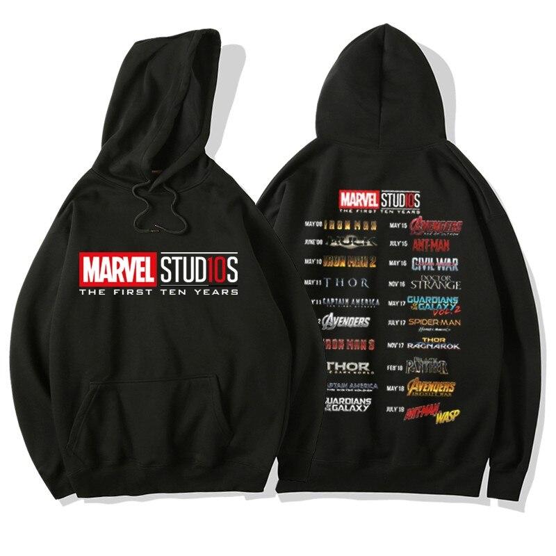 Marvel Superhero Men/ผู้หญิงพิมพ์ Hoodies เสื้อกันหนาวฤดูใบไม้ร่วงฤดูหนาว Warm Hoodie Avengers Casual Hooded Pullover Jackeirts-ใน เสื้อฮู้ดและเสื้อกันหนาว จาก เสื้อผ้าผู้ชาย บน   1