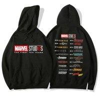 Marvel Superhero Men/Women Print Hoodies Sweatshirt Autumn Winter Warm Hoodie The Avengers Casual Hooded Pullover Jackeirts