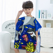 Character Kid bath towel Hood Baby bathrobe Children's pajamas Pig and Dino style/Children's beach Ponchos