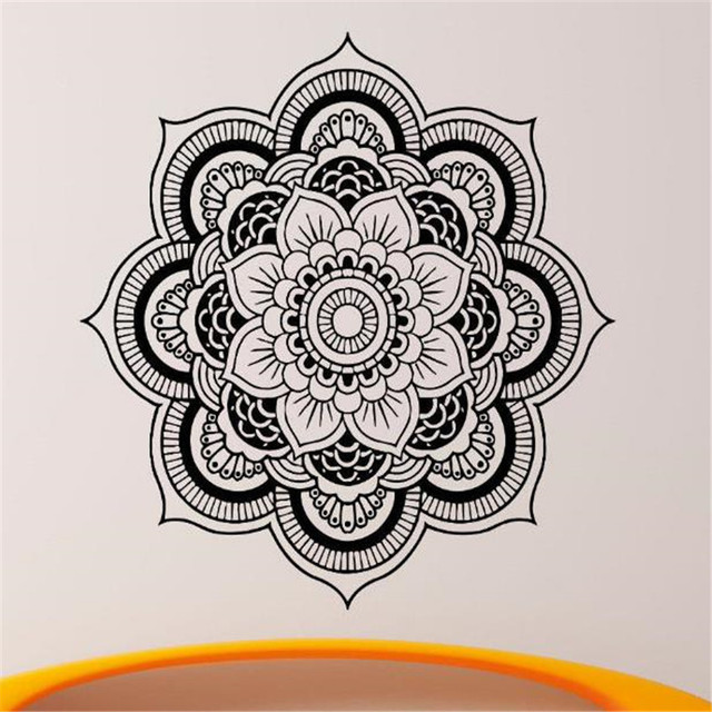 Mandala Wall Decal Vinyl Sticker Indian Om Lotus Flower Yoga Home