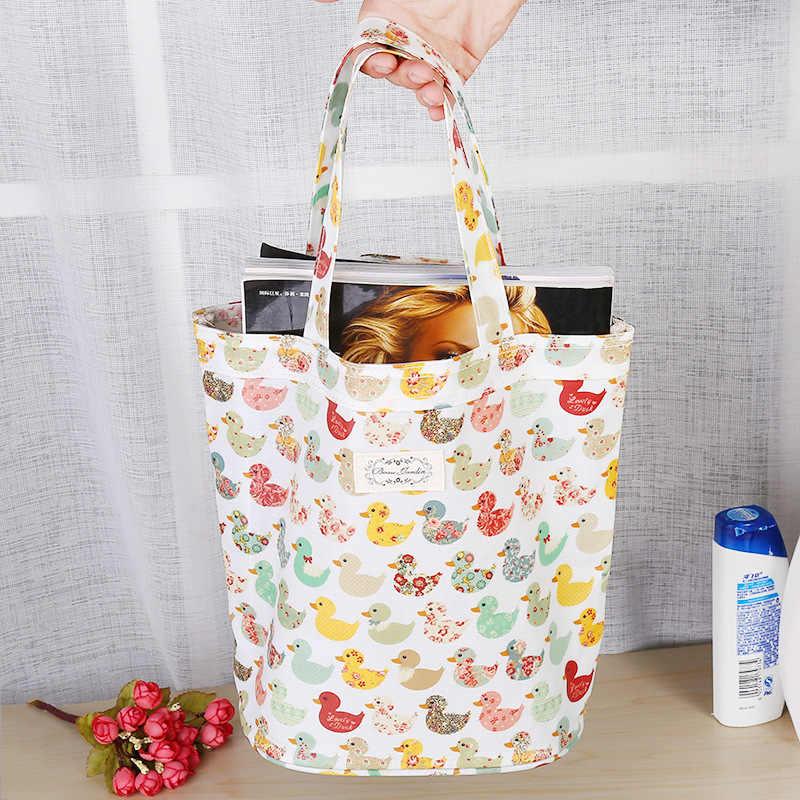 e10637ac74ad 2019 сумка для покупок Женская утка дизайн товар Органайзер Мода Эко сумка  для девочек Леди Топ