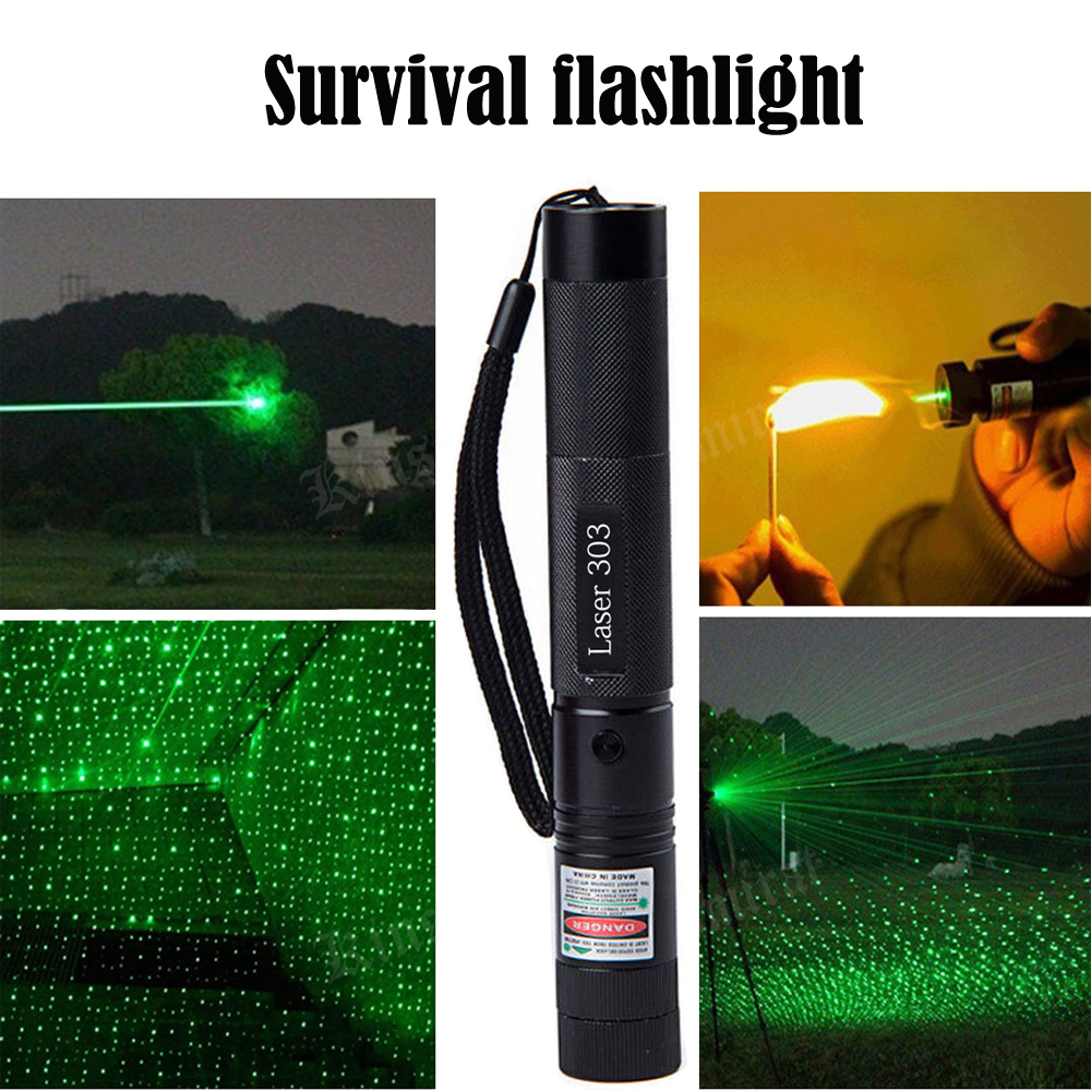 Outdoor Survival Kit First Aid Camping Survival Flashlight Travel Hiking EDC SOS Emergency Tactical  Laser Tool For Wilderness