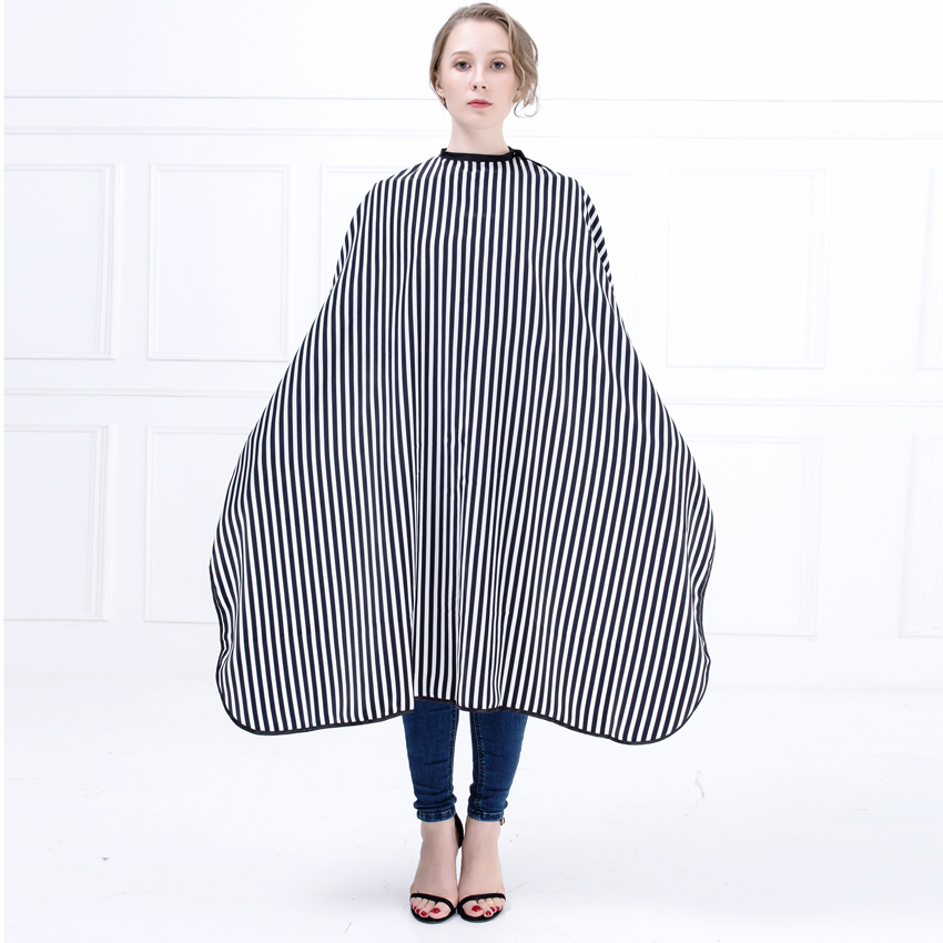 High Qaulity Stripe Pattern Hair Salon Barber Cape Styling Haircut Gown Hairdressing Cape Wrap For Hair Coloring New Design stylish stripe pattern fringed shawl wrap pashmina