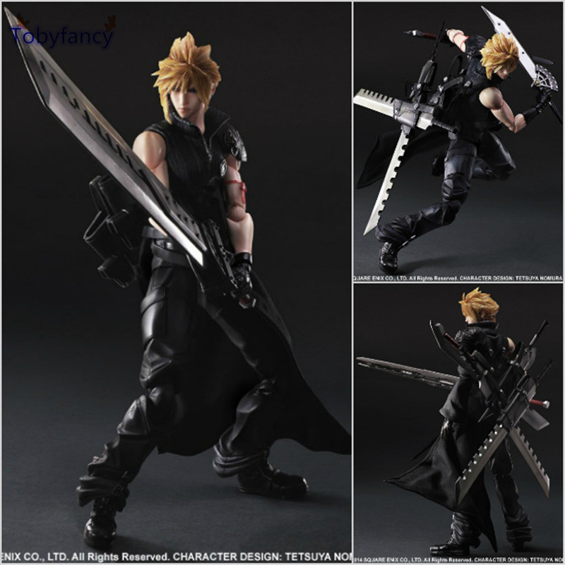 Tobyfancy Final Fantasy Play Arts Kai Action Figure Cloud Strife Collection Anime Model Toys Final Fantasy Playarts Kai 270MM final fantasy play arts kai action figure 250mm cloud sephiroth squall pvc anime toy collection model figurine play arts kai