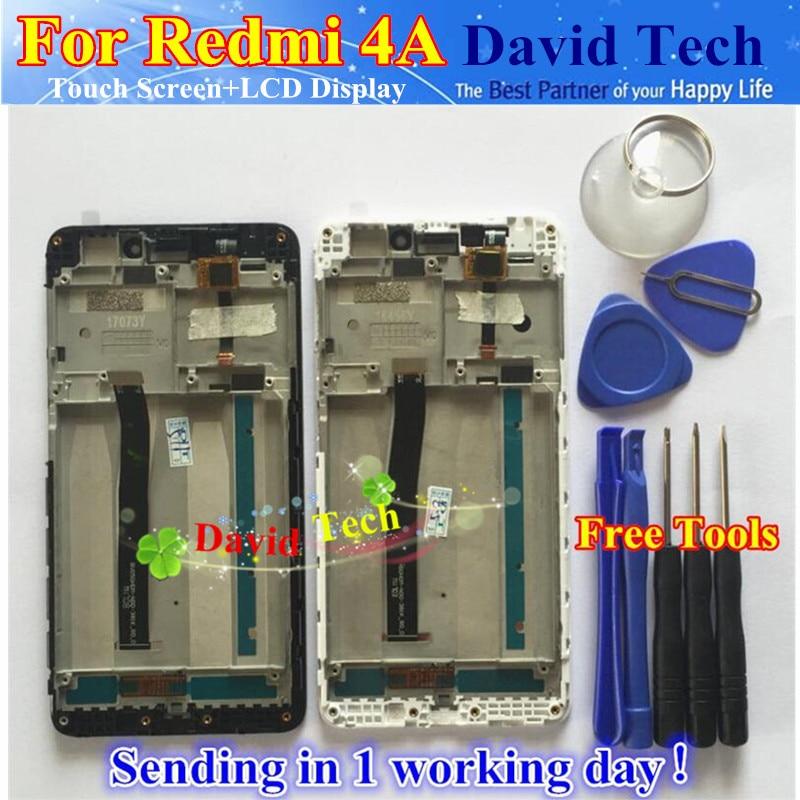 imágenes para Cristal de la Pantalla táctil Y LCD Display Asamblea Del Digitizador Para Xiaomi Redmi 4A Teléfono Inteligente Con Conexión Frame Envío