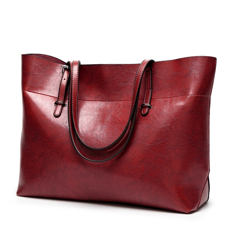 Genuine Leather Large Female Casual Tote Bag Solid Cowhide Handbag Shoulder Bag Famous Brand Women Messenger Bags Bolsa Feminina women genuine leather casual real cowhide tote bags vintage soft small trunk shoulder handbags solid tassels bolsa feminina