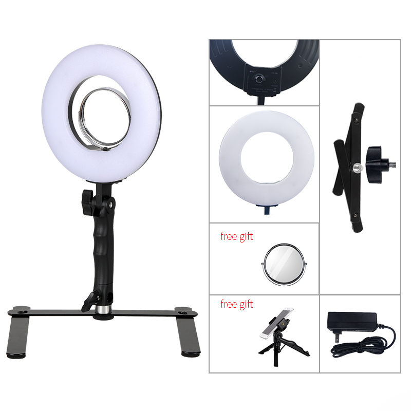 8 Inch 24W 5600K Dimmable Photo Studio Selfie light Photography Makeup Ring Light Phone Video Live Light Lamp for light Stand кольцо для селфи selfie ring light на батарейке белое