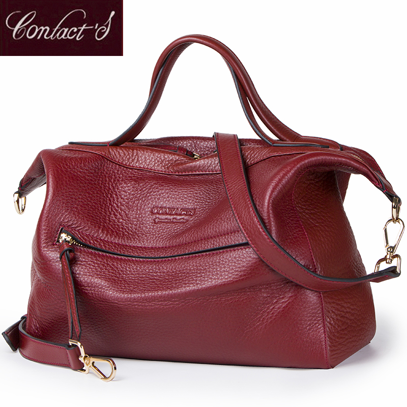 New Fashion Crossbody Bags for Women Genuine Leather Handbag Large Capacity Shoulder Bag Red Messenger bag