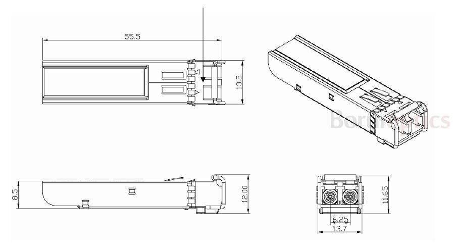Mikrotik S-31DLC20D 1.25G-1310nm-20km-DDM-SFP волоконно-оптический трансивер