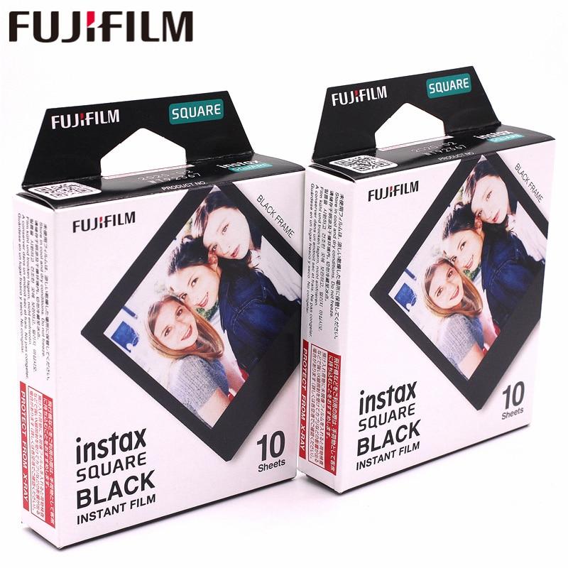 2018 Véritable Fujifilm Instax 20 Feuille CARRÉ Noir Cadre film Photo papier Pour Instax CARRÉ SQ10 Hybride part sp-3 SQ caméra