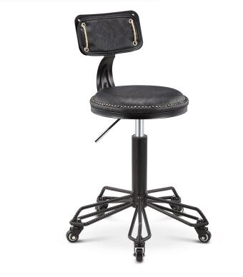 Wrought iron vintage lift stools  front desk bar beauty stools.
