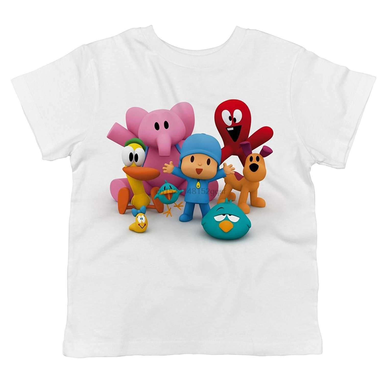 100% Pocoyo Pocoyo E Todos Os Seus Amigos Juntos 100% Algodão Camiseta Criança