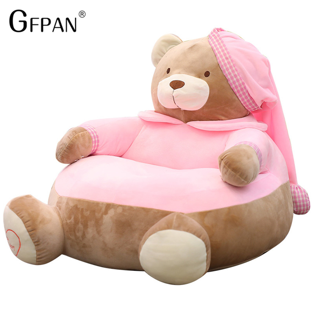 New 55cm Lovely Cartoon Kids Sofa Chair Plush Seat Baby Nest Sleeping Bed Adult Pillow Stuffed Teddy Bear Plush Toys new arrival large about 55cm cartoon animal design plush seat cushion tatami plush toy sofa floor seat w5291