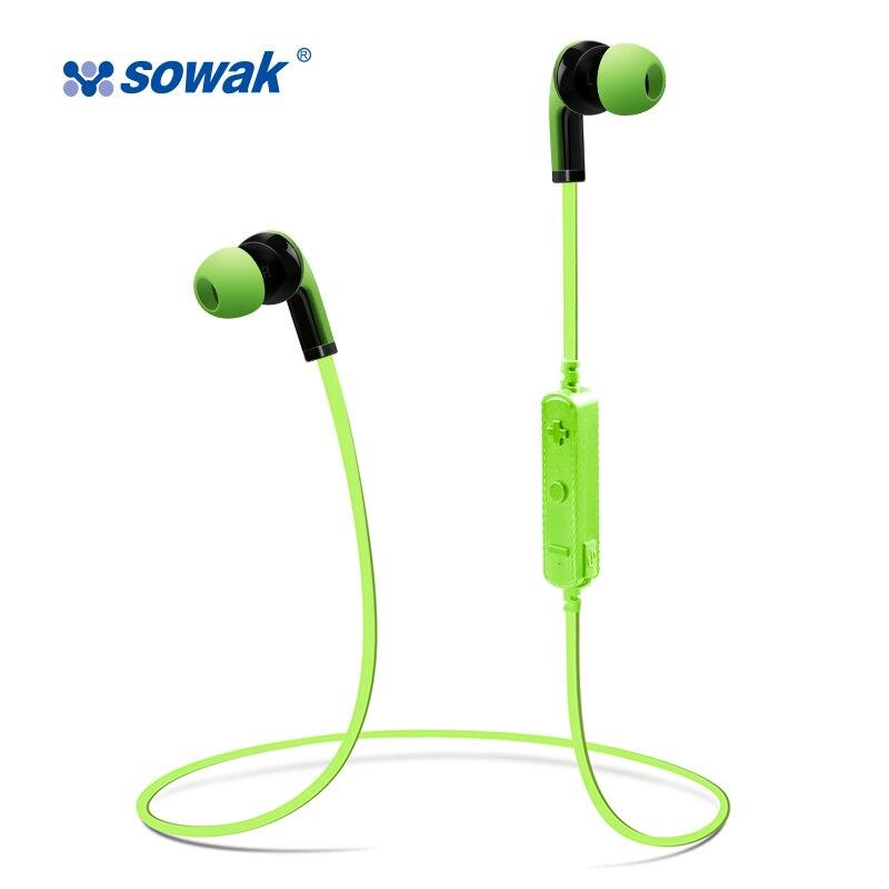 Original SOWAK H4 MINI Bluetooth headphones handsfree wireless sport running earpieces with mic