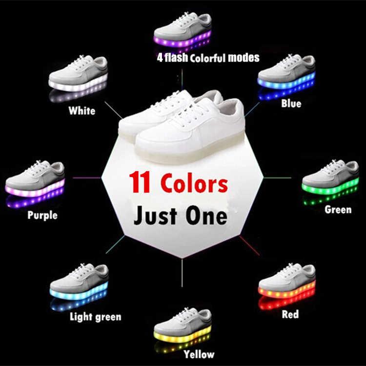 7 ipupasรองเท้าผ้าใบส่องสว่างUSBเด็กรองเท้าLed light upสำหรับเด็กเด็กสาวตะกร้าlumineuxเจริญเติบโตเทนนิสLedเรืองแสงรองเท้าผ้าใบ