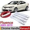 Per Renault Fluence 2009 ~ 2019 Chrome Maniglia di Portello Della Copertura Accessori Per Auto Adesivi Trim Set 2010 2011 2012 2013 2014 2015 2016 2018|Adesivi per auto|   -