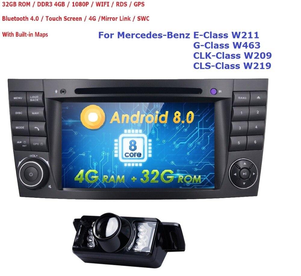 32 Гб Встроенная память 4 Гб Оперативная память Android 8,0 OctaCore dvd плеер автомобиля для Mercedes Benz E Class W211 E200 E220 E240 E270 E280 2002 2008 W219 CAM