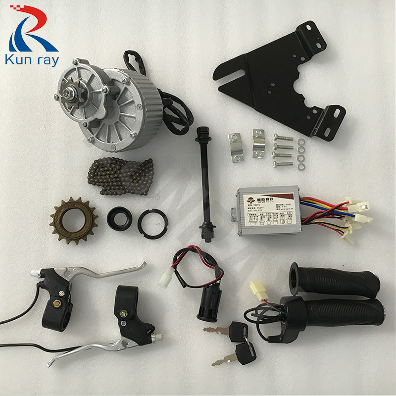 купить Electric bike kit 450W 24V/36V MY1018 DC Brushed Motor Ebike Brushed DCMotor E SCOOTER Motor Electric Bicycle Parts по цене 6187.77 рублей