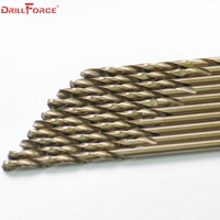 Drillforce Tools 12mm M35 Cobalt Drill Bits Set,HSS CO Drill Bit Set, for Drilling on Hardened Steel, Cast Iron &Stainless Steel