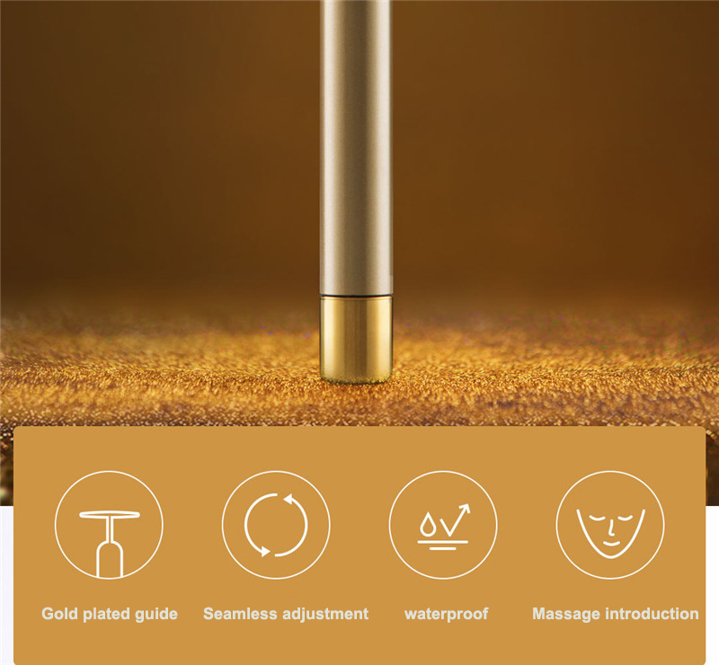 Xiaomi InFace Gold Beauty Bar Gold-plated Massage head Speed Up Metabolism Improve Edema Face-lifting SPA Portable Beauty Bar (23)