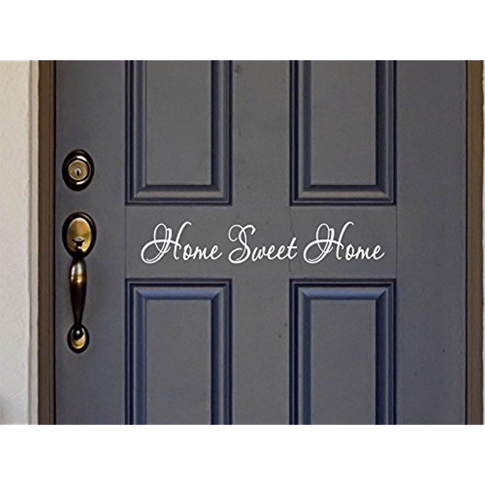 Sweet home quote wall stickers vinyl lettering word for for Door vinyl design
