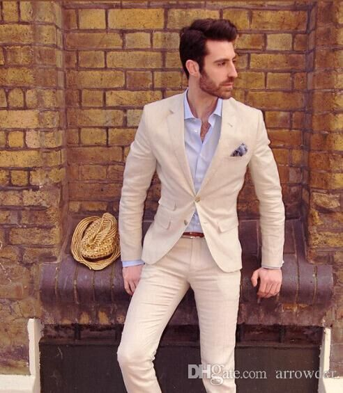 ac31739feb86 (Jacket+Pants) 2015 New Ivory Men Suits Formal Semi Formal Two Button  Separates Wedding Suits For Men Blazers Tuxedos X