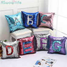 Two-Color Sequined Pillowcase Pearl Piece Household Soft Decorative Cushion European Mermaid Pillowcases Pillow Covers Sequin