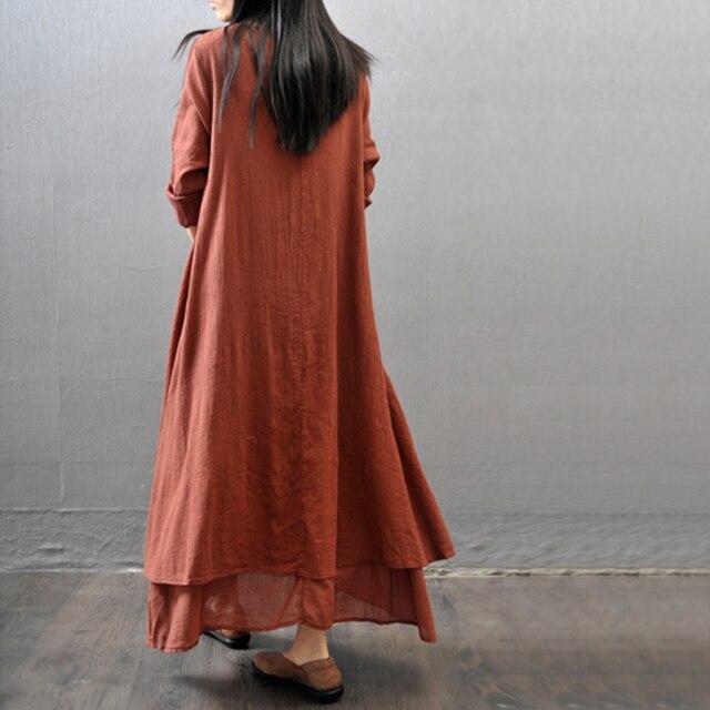 Women's Linen Maxi Dress 4