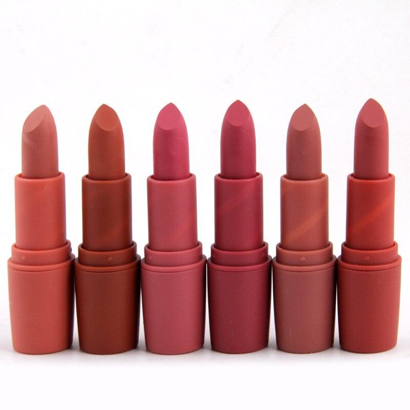 Lipstick Punctual Miss Rose Nude Lipstick 22 Colors Waterproof Vampire Brown Beauty Baby Lips Batom Matte Lipstick Makeup Tats Eugenie Margherita Beauty & Health