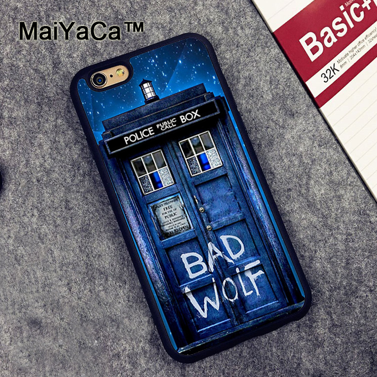 MaiYaCa Tardis Doctor Dr Who Police Box Bad Wolf Soft TPU Phone Cases For Apple iphone 6 Case 4.7 Case For iphone 6S 6 Cover
