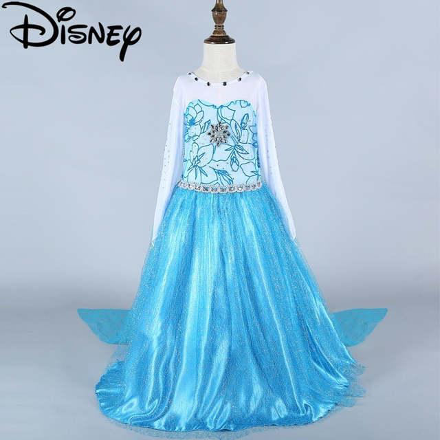 175c67f56fe Online Shop Disney Frozen dress green elsa baby girls costumes snow queen  cosplay kids clothes fantasia vestido christmas costume princess